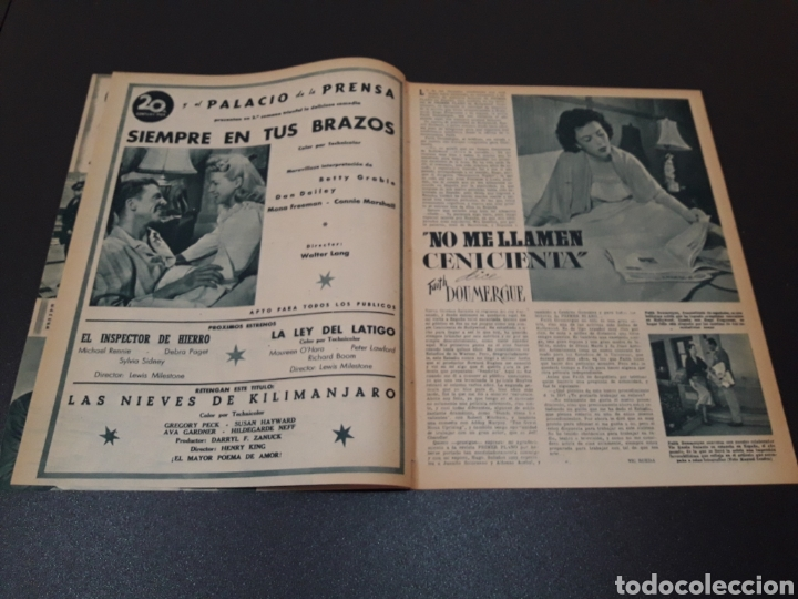 Cine: AURORA BAUTISTA, MARIO CABRE, CLAIRE BOOM, GEORGE RAFT. N° 665. 12/07/1953. - Foto 3 - 183663312