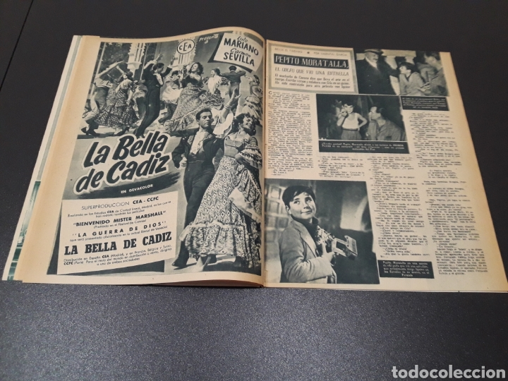 Cine: CARMEN SEVILLA, JOAN COLLINS, ESTHER WILLIAMS, JOSE SUAREZ, JOSE NIETO. N° 671. 23/08/1953. - Foto 6 - 183670647