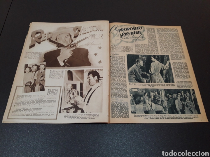 Cine: MARIO CABRE, CLAIRE BLOOM, CLAUDE DAUPHIN, DORIS DURANTI, KIRK DOUGLAS. N° 672. 30/08/1953. - Foto 9 - 183671556