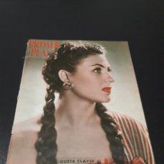 Cine: QUETA CLAVER, HOWARD VERNON, MARIO CABRE, ORSON WELLES, AVA GARDNER. N° 686. 06/12/1953.. Lote 183696006