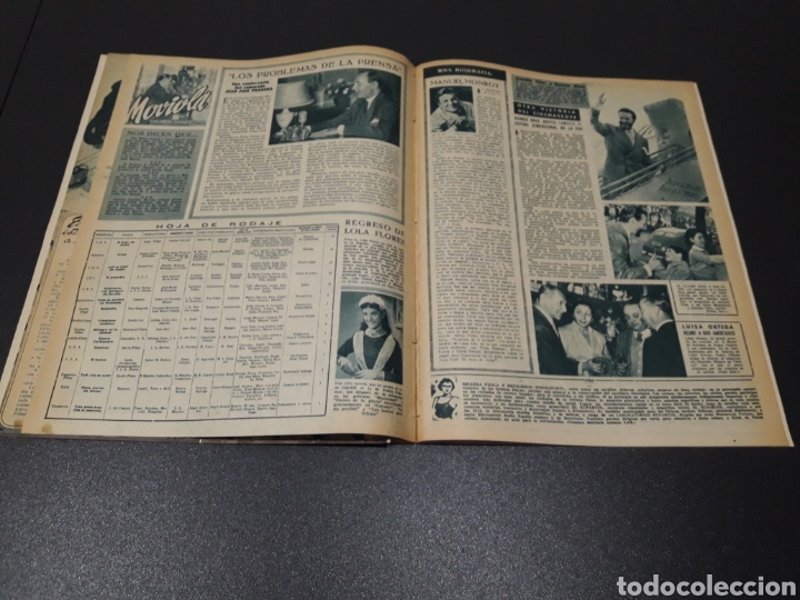 Cine: AURORA BAUTISTA, JEAN COCTEAU, KAY KENDALL, GINO CERVI, ALAN LADD. N° 683. 15/11/1953. - Foto 12 - 183697206