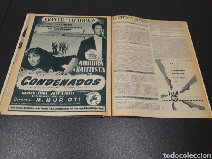 Cine: AURORA BAUTISTA, JEAN COCTEAU, KAY KENDALL, GINO CERVI, ALAN LADD. N° 683. 15/11/1953. - Foto 13 - 183697206