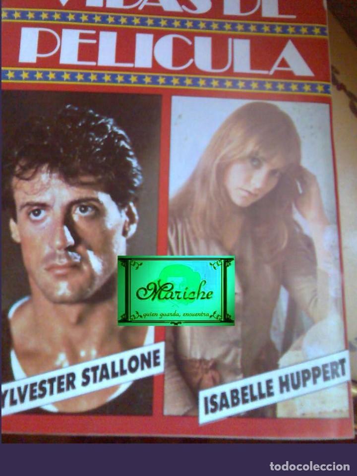 SYLVESTER STALLONE-ISABELLE HUPPERT VIDAS DE PELÍCULA Nº 1 AÑO 2 NUEVO 1986 BRUGUERA (Cine - Revistas - Otros)