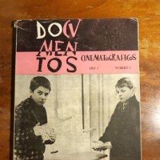 Cine: DOCUMENTOS CINEMATOGRÁFICOS AÑO I N 3,5,6,7 Y AÑOII 8. Lote 184037663