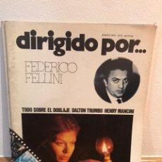 Cine: DIRIGIDO POR FEDERICO FELLINI NÚMERO 9. Lote 184058276