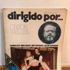 Cine: DIRIGIDO POR ORSON WELLES NÚMERO 12. Lote 184058396