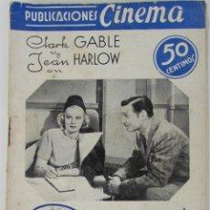 Cinema: PUBLICACIONES CINEMA. SARATOGA. CLARK GABLE. JEAN HARLOW. Nº 26. Lote 184120940