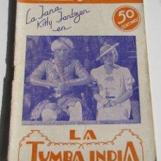 Cinema: PUBLICACIONES CINEMA. LA TUMBA INDIA. LA JANA. KITTY JANTZEN. Nº 8. Lote 184129751