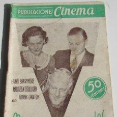 Cinema: PUBLICACIONES CINEMA. MUÑECAS INFERNALES. LIONEL BARRYMORE. MAUREEN OSULLIVAN. Nº9. Lote 184130056