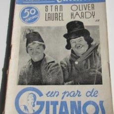 Cinema: PUBLICACIONES CINEMA. UN PAR DE GITANOS. STAN LAUREL Y OLIVER HARDY. Nº37. Lote 184131505