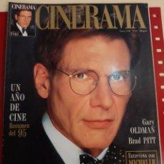 Cine: CINERAMA 1996 NÚMERO 43 HARRISON FORD RESUMEN CINE 1995 . GARY OLDMAN ..BRAD PITT. Lote 184173420