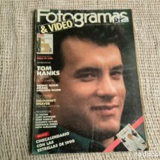 Cine: FOTOGRAMAS Nº 1759 - ENERO 1990 - TOM HANKS. POSTER DESPLEGABLE DE SIGOURNEY WEAVER. Lote 296966833