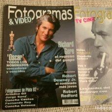 Cinema: FOTOGRAMAS Nº 1795. MARZO 1993. RICHARD GERE,ROBERT DOWNEY JR. ROBERT REDFORD, SUPLEMENTO. .. Lote 184274373