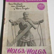 Cine: PUBLICACIONES CINEMA. WOLGA-WOLGA. Nº 54. Lote 184348118