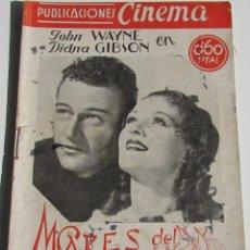 Cine: PUBLICACIONES CINEMA. MARES DEL SUR. JOHN WAYNE. DIANA GIBSON. Nº 59. Lote 184348341