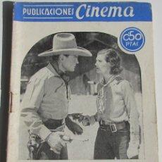 Cine: PUBLICACIONES CINEMA. EXTERMINIO. BUCK JONER. Nº 20. Lote 184348505