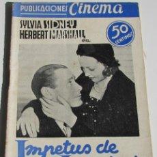 Cine: PUBLICACIONES CINEMA. IMPETUS DE JUVENTUD. SILVIA SIDNEY. HERBERT MARSHALL. Nº 24. Lote 184349122