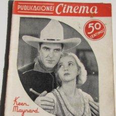 Cine: PUBLICACIONES CINEMA. UN MAL PASO. KEAN MAYNARD. Nº 25. Lote 184349175