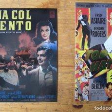 Cine: CLASSIC VINTAGE MOVIE POSTER COLLECTION - PROMOS LO QUE EL VIENTO SE LLEVO Y SOMBRERO DE COPA. Lote 184388673