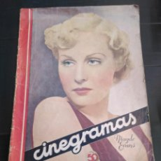 Cine: REVISTA CINEGRAMAAS AÑO1935 POR Y PARA EL CINE. Lote 184559323