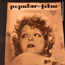 Cine: REVISTA POPULAR FILM ENERO 1934 CLARA BOW.JEAN PARKER WALT DISNEY. Lote 184745050