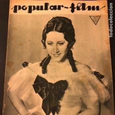 Cine: REVISTA POPULAR FILM FEBRERO 1934 JOHNNY WEISSMULLER TARZAN MARLENE DIETRICH MAE WEST. Lote 184745141