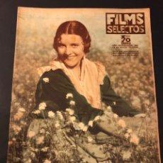 Cine: REVISTA FILMS SELECTOS MARZO 1936 IMPERIO ARGENTINA.JOAN CRAWFORD CLARK GABLE BETTE DAVIS. Lote 184745406