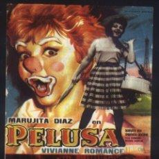 Cine: P-8485- PELUSA (RECORTE DE PRENSA 9 X 13) MARUJITA DÍAZ - ENRIQUE BENCHIMOL - FRANCISCO BERNAL. Lote 184749816