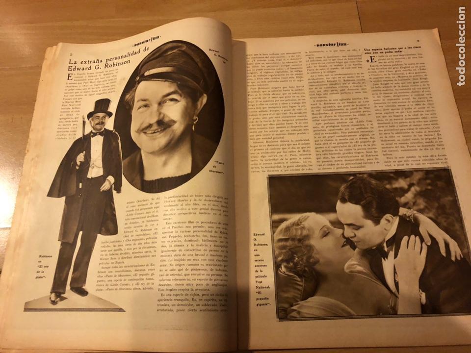 Cine: Revista popular film febrero 1934 clara bow.gary cooper.douglas fairbanks edward g robinson disney - Foto 3 - 184762901