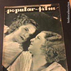 Cine: REVISTA POPULAR FILMS DICIEMBRE 1933 BARBARA STANWYCK.STAN LAUREL Y OLIVER HARDY CLARA BOW. Lote 184763653