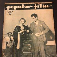 Cine: REVISTA POPULAR FILM NOVIEMBRE 1933 CATALINA BARCENA GILBERT ROLAND.GLORIA SWANSON.PABST.. Lote 184763888
