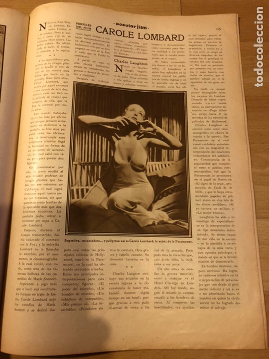 Cine: Revista popular film enero 1934 Kay Francis warner baker carole lombard - Foto 6 - 184764425