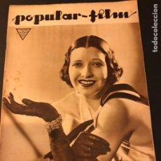 Cine: REVISTA POPULAR FILM ENERO 1934 KAY FRANCIS WARNER BAKER CAROLE LOMBARD. Lote 184764425