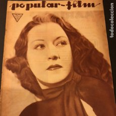 Cine: REVISTA POPULAR FILM MAYO 1934.ETHEL MERMAN DIANA WYNYARD CLAUDETTE COLBERT. Lote 184764781