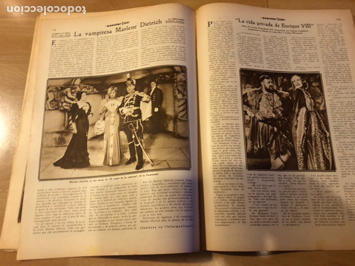 Cine: Revista popular film diciembre 1933 janet gaynor leslie howard mary pickford charles laughton - Foto 5 - 184765595