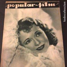 Cine: REVISTA POPULAR FILM DICIEMBRE 1933 JANET GAYNOR LESLIE HOWARD MARY PICKFORD CHARLES LAUGHTON. Lote 184765595