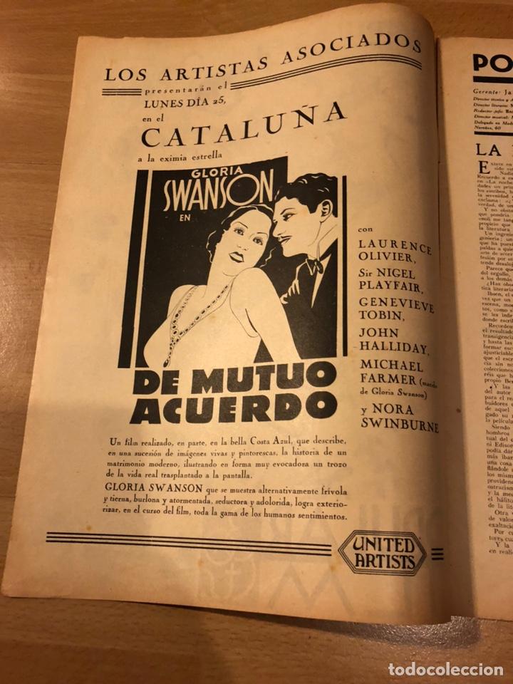 Cine: Revista popular film junio 1934 skimo.gloria swanson Thelma tood Warren william norma shearer - Foto 2 - 184765983