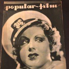 Cine: REVISTA POPULAR FILM NOVIEMBRE 1933 GRACE BRADLEY.EL QUIJOTE DE PABST MAUREEN O,SULLIVAN. Lote 184766306