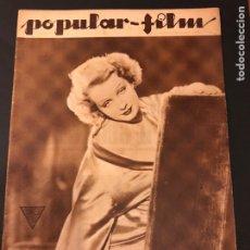 Cine: REVISTA POPULAR FILM MARZO 1934 SARI MARITZA CATALINA BARCENA JOSE CRESPO EDWARD G ROBINSON. Lote 184766990