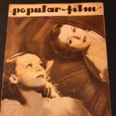 Cine: REVISTA POPULAR FILM MARZO 1934 IRENE BENTLEY RICARDO CORTEZ DOLORES DEL RÍO RAQUEL TORRES. Lote 184767283
