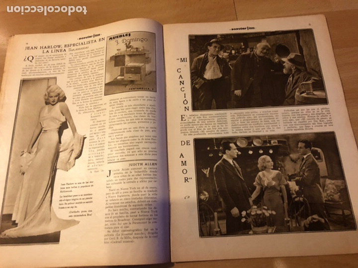 Cine: Revista popular film abril 1934 rosemary amer.jean harlow james cagney - Foto 2 - 184768361