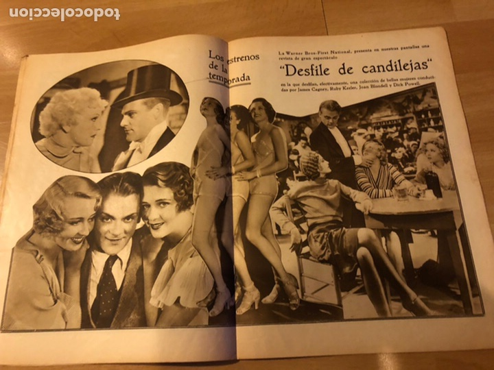 Cine: Revista popular film abril 1934 rosemary amer.jean harlow james cagney - Foto 4 - 184768361