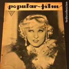 Cine: REVISTA POPULAR FILM MARZO 1934 MAE WEST.EL HOMBRE INVISIBLE BORIS KARLOFF FRANCES DRAKE. Lote 184768845
