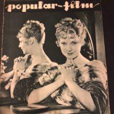 Cine: REVISTA POPULAR FILM DICIEMBRE 1933 UNA MERKEL.JOAN CRAWFORD LESLIE HOWARD MARY PICKFORD. Lote 184769141