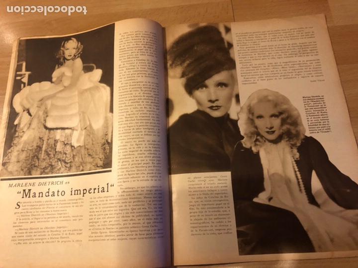 Cine: Revista popular film junio 1934.marlene Dietrich gloria swanson alice faye - Foto 2 - 184769432