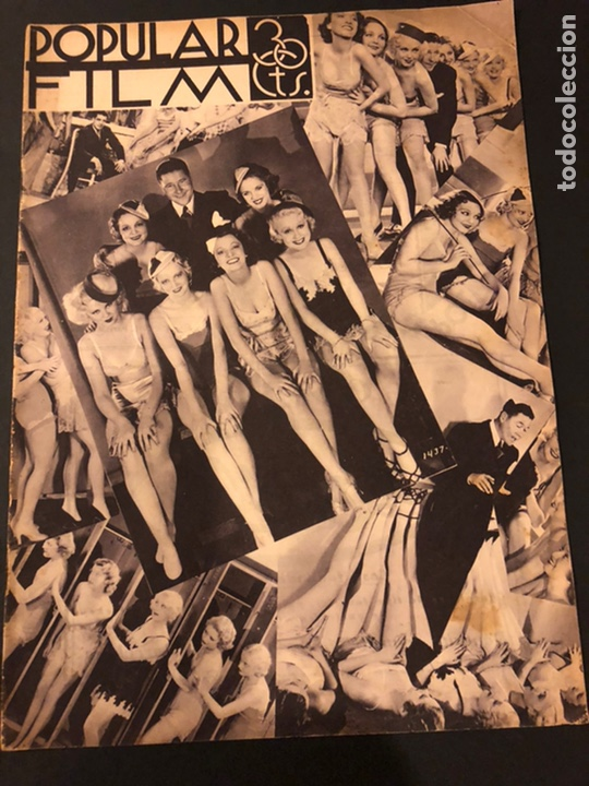 REVISTA POPULAR FILM JUNIO 1934.MARLENE DIETRICH GLORIA SWANSON ALICE FAYE (Cine - Revistas - Popular film)