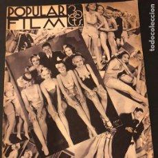 Cine: REVISTA POPULAR FILM JUNIO 1934.MARLENE DIETRICH GLORIA SWANSON ALICE FAYE. Lote 184769432