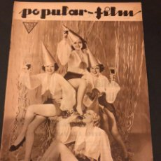 Cine: REVISTA POPULAR FILM FEBRERO 1934 DOUGLAS FAIRBANKS NORMA SHEARER JEAN HARLOW ROBERT ALLEN. Lote 184770392