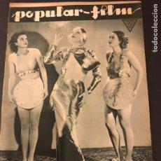 Cine: REVISTA POPULAR FILM NOVIEMBRE 1933.ANNA STEN.JOAN CRAWFORD SÍLVIA SYDNEY. Lote 184770615