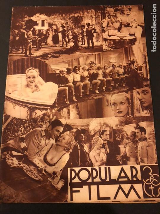 REVISTA POPULAR FILM AGOSTO 1934 MARLENE DIETRICH LORETTA YOUNG DOUGLAS FAIRBANKS (Cine - Revistas - Popular film)